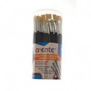 Create Hog Bristle Art Paint Brush Single